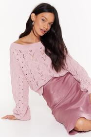 Nasty Gal Blush Pointelle You Out Balloon Sleeve K