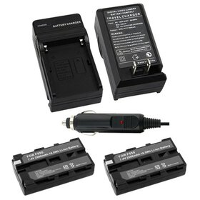 Insten 2 Battery+Charger for Sony NP-F550 NP-F330