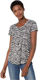 Vince Camuto Short Sleeve Zebra Highlight Burnout