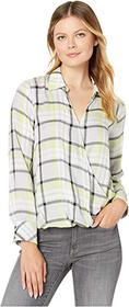 Vince Camuto Plaid Highlight Collared Faux Wrap Bl