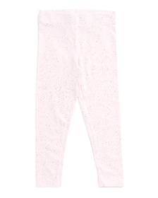 ISAAC MIZRAHI Girls Glitter Spray Leggings