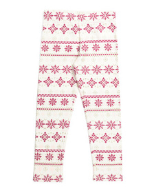 ISAAC MIZRAHI Girls Glitter Snowflake Leggings