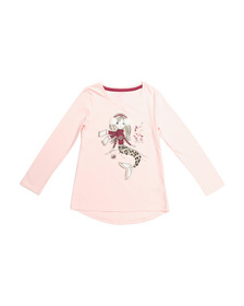 ISAAC MIZRAHI Girls Glitter Winter Mermaid Top