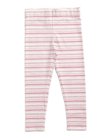 ISAAC MIZRAHI Girls Glitter Aztec Leggings