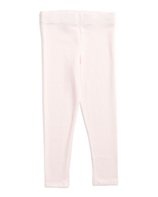 ISAAC MIZRAHI Girls Solid Jersey Leggings