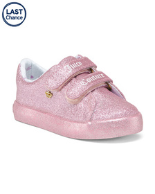 JUICY COUTURE Glitter Velcro Sneakers (Toddler)