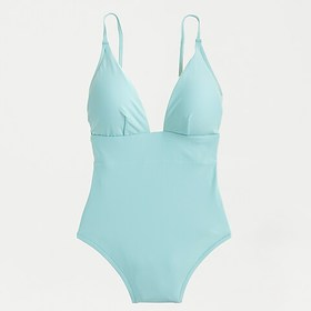 J. Crew Deep V-neck french one-piece swimsuit