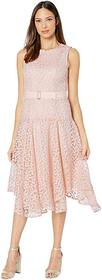 Calvin Klein Floral Embroidered Handkerchief Dress