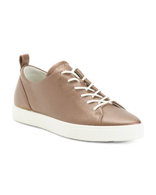 ECCO Comfort Lace Up Leather Sneakers