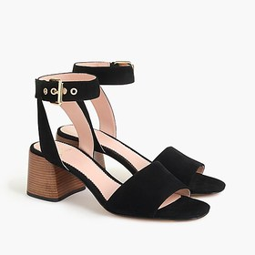 J. Crew Penny ankle-strap sandals in suede