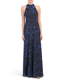 TAHARI BY ASL Halter Neck Gown