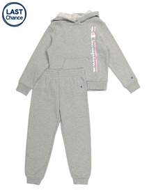 CHAMPION Little Girls Pullover Hoodie And Fleece J