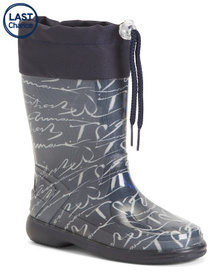 ARMANI JUNIOR Made In Italy Printed Rain Boots (Li