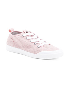 ROXY Canvas Sneakers With Floral Detail (Little Ki