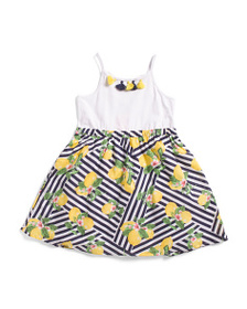 ISAAC MIZRAHI Little Girls Lemon Print Dress With
