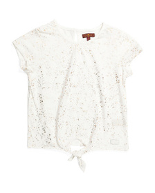 7 FOR ALL MANKIND Big Girls Tie Front Top