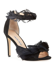 Charles David Collector Suede Feather Stiletto San
