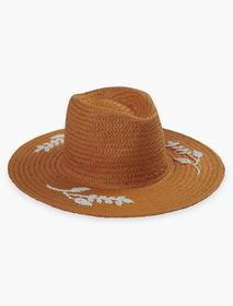 Lucky Brand Floral Embroidered Straw Hat