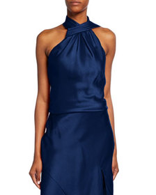 Jason Wu Collection Crepe Back Satin Halter Top