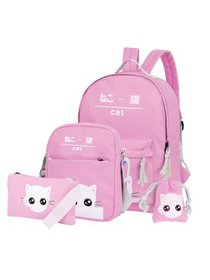 Vbiger Canvas Kid's Backpack Set 4-in-1 Shoulder B