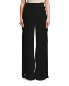 Stella McCartney Fringed Belt Silk Pants