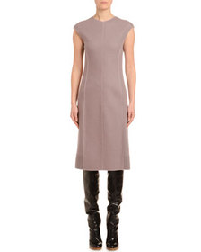 Agnona Cashmere-Jersey Cap-Sleeve Pencil Dress