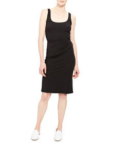 Theory Scoop-Neck Ruched Tank Dress
