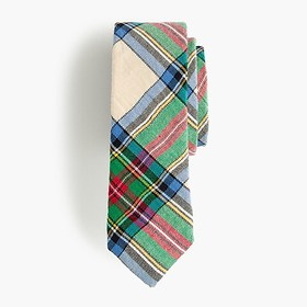 J. Crew Boys' cotton tie in holiday plaid