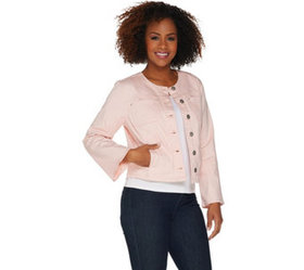 """""""As Is"""" Belle by Kim Gravel Stretch Twill Jacket w"""