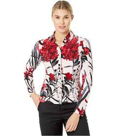 Tommy Hilfiger Floral Long Sleeve Collared Button