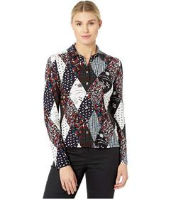 Tommy Hilfiger Printed Long Sleeve Collared Button