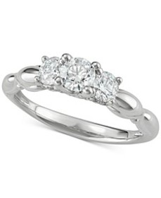 Diamond Trinity Engagement Ring (1 ct. t.w.) in 14