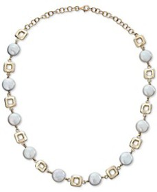 Cultured Coin Freshwater Pearl (10mm) Collar Neckl