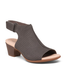 CLARKS Perforated Leather Sandals
