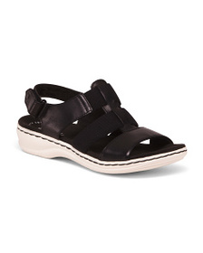 CLARKS All Day Comfort Leather Sport Sandals
