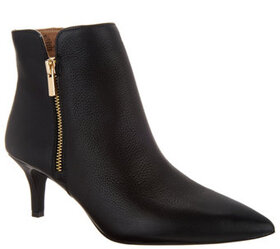 G.I.L.I. Leather Pointed-Toe Booties - A311490