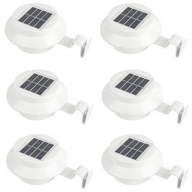 1/6 Pack 3 LED Solar Powered Lights Outdoor Waterp