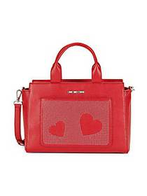 Love Moschino Borsa Faux Leather Satchel RED