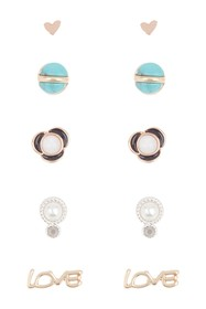 Lucky Brand Mixed Metal & Stone Earrings Set
