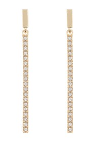 Vince Camuto Pave Bar Stick Drop Earrings