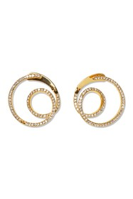Vince Camuto Pave Crystal Wraparound Hoop Earrings