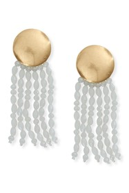 Lucky Brand Polished Gold-Tone Beaded Tassel Drop