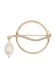 Vince Camuto 9mm Freshwater Pearl & Crystal Brooch