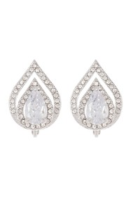 Vince Camuto CZ Clip Stud Earrings