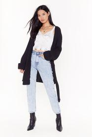 Nasty Gal Black Turn Back the Days Knitted Belted