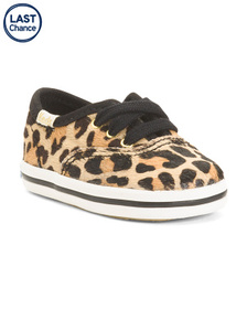 KEDS Haircalf Leopard Sneakers (Infant)