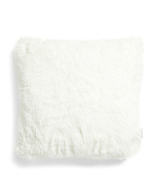ASPEN 20x20 Textured Faux Fur Pillow