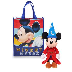 """Mickey Mouse Sorcerer 11"""" Plush Doll & Gift Tote B"""