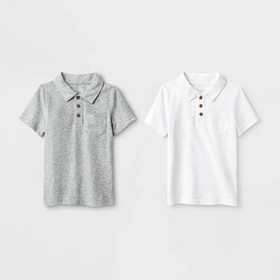 Toddler Boys' 2pk Short Sleeve Polo Shirt - Cat &