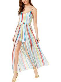 XOXO Womens Juniors Printed Maxi Romper